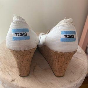 White Cork Heal Tom's Wedges